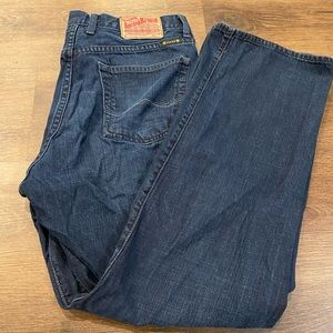 Lucky brand 34x30 jeans great shape dark wash